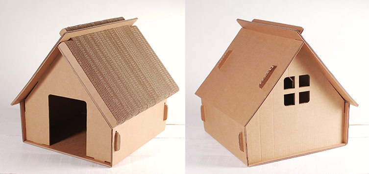 Giocattoli di cartone per gatti selfpackaging blog - Casas para gatos baratas ...