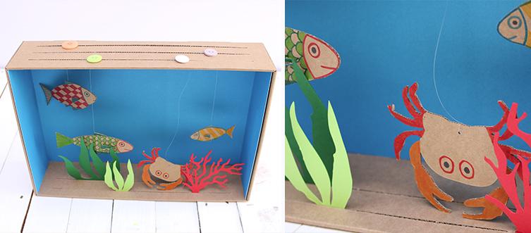 creazioni per bambini un acquario divertente selfpackaging blog. Black Bedroom Furniture Sets. Home Design Ideas